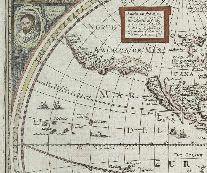 A NEW AND ACCURAT MAP OF THE WORLD by John Speed, 1651